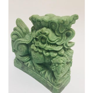 1970s Vintage Green Cast Soapstone Foo Dog Preview