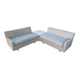 Beautiful 1950s Two Piece Sofa For Sale