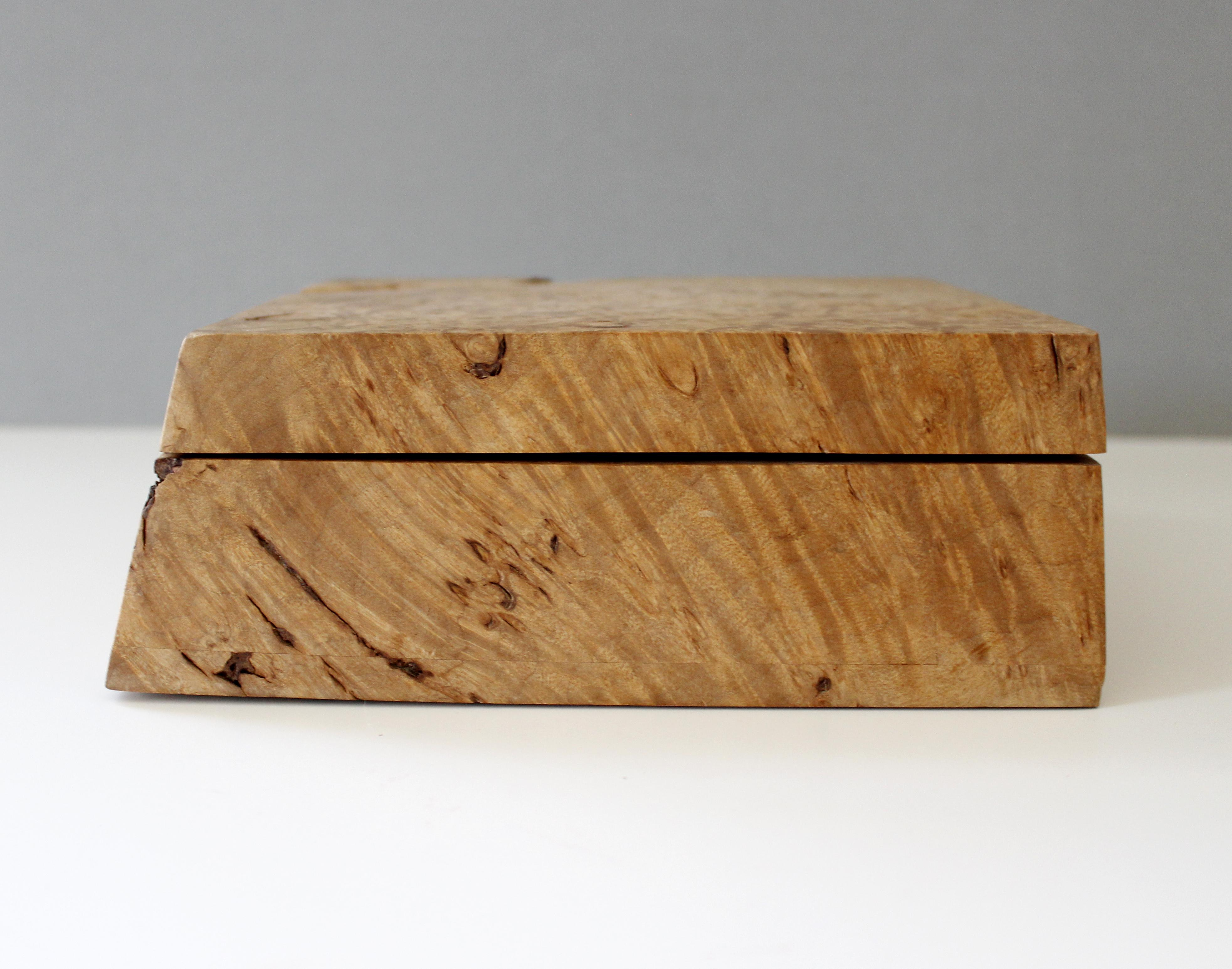 Vintage Michael Elkan Burl Wood Jewelry Box Handmade Chairish