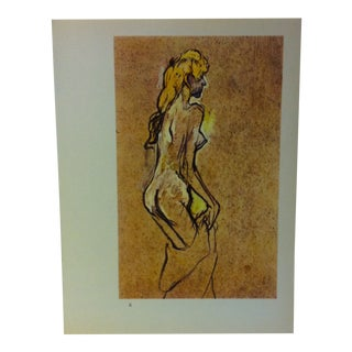 """Circa 1980 """"Girl 1894"""" Color Print of a Toulouse-Lautrec Drawing For Sale"""