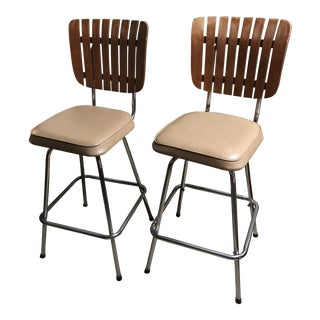 Vintage Mid Century Arthur Umanoff Counter Stools- a Pair For Sale