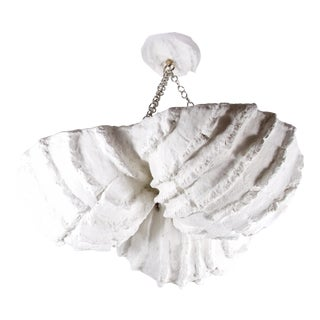 Mid-Century Modern Sea Shell Plaster Pendant/Chandelier For Sale