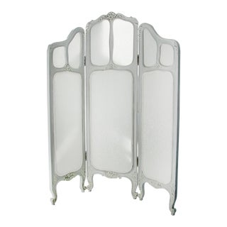 Late 19th Century French Boudoir Privacy Screen For Sale