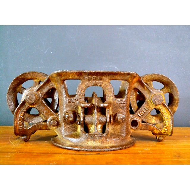 Vintage Industrial Hay Trolley, Double Pulley - Image 2 of 8