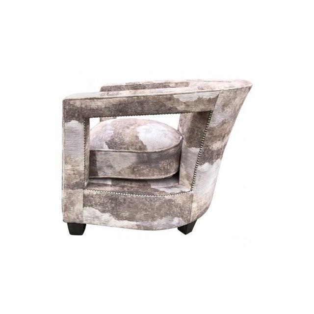 Modern Bernhardt Alana Velvet Lounge Chair For Sale - Image 3 of 7