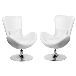 Swivel Egg Lounge Chairs- A Pair