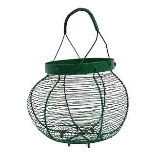 1940s French Market Egg Basket For Sale