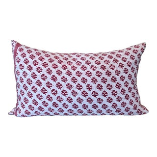 Fortuny Pink Reversible Pillow For Sale