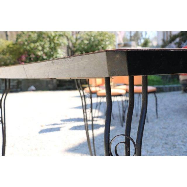 S Vintage MidCentury Modern Peach Formica Table Chairs - Mid century modern formica table