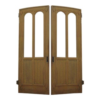 Doors - Antique Gothic Wooden Doors - a Pair