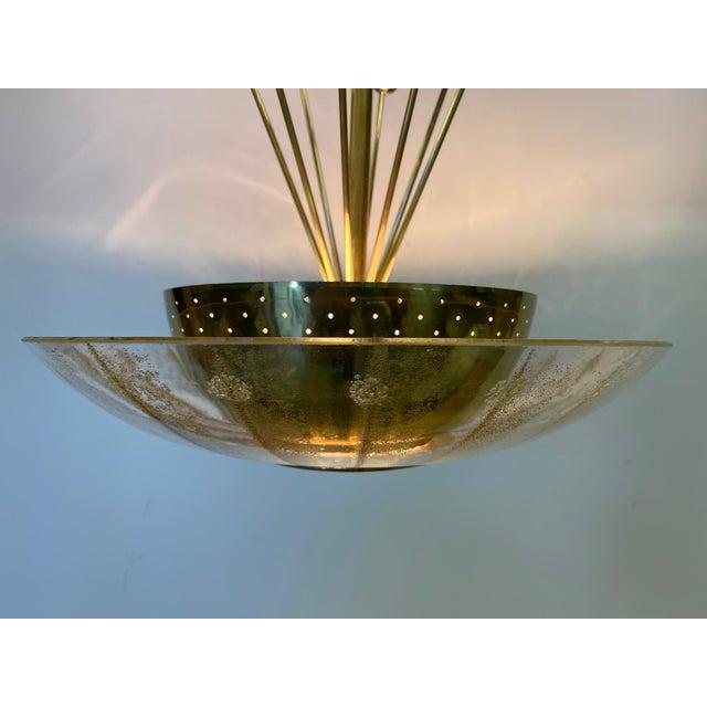 Vintage Brass Sputnik Style Chandelier For Sale - Image 10 of 13