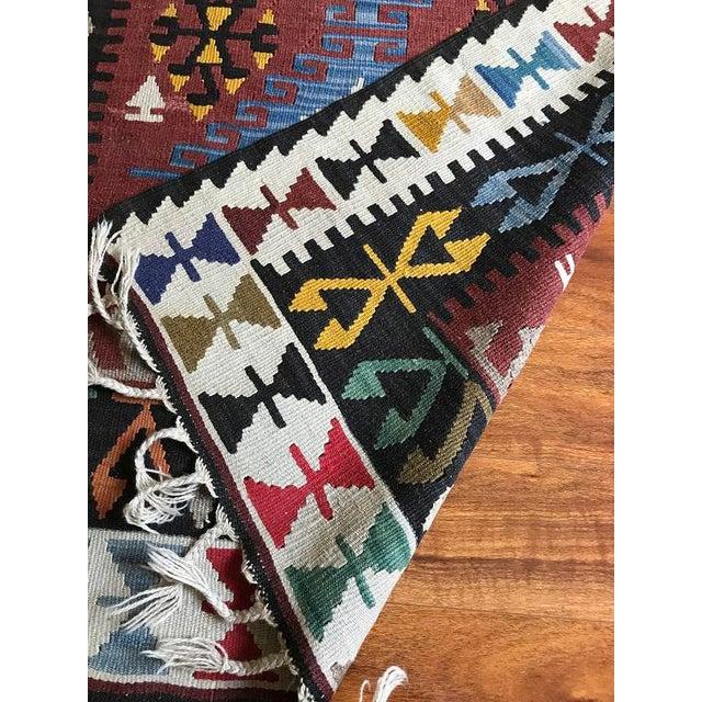 "Vintage Anatolian Kilim - 5'8"" X 3'7"" For Sale - Image 4 of 9"