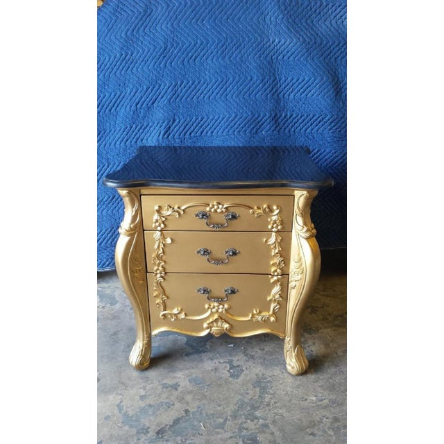 Gold French Louis XV Nightstands - Pair - Image 2 of 6