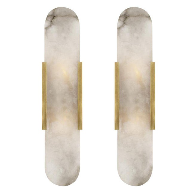 Visual Comfort Melange Elongated Sconces - A Pair For Sale