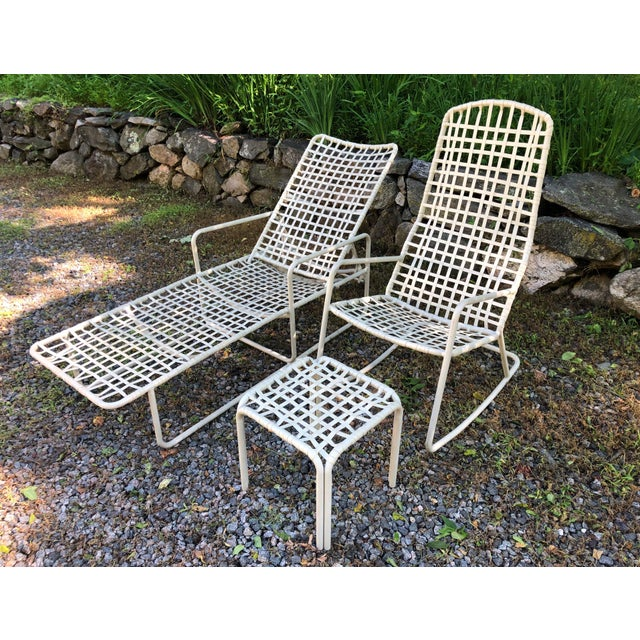 Nice mid Century Modern style set including very comfortable and hard to find rocker. Light tan. In great condition.