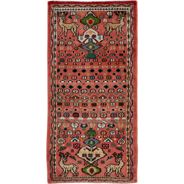 """Vintage Persian Mahal Rug – Size: 2' 1"""" X 4'4"""" For Sale - Image 9 of 9"""