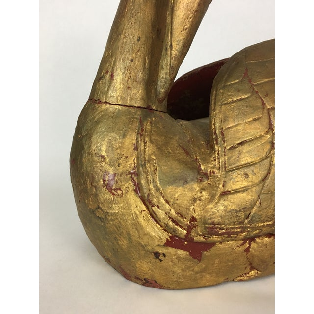 Stunning Italian carved gilt wood swan statue / sculpture. Beautiful decorative piece that radiates character and old...