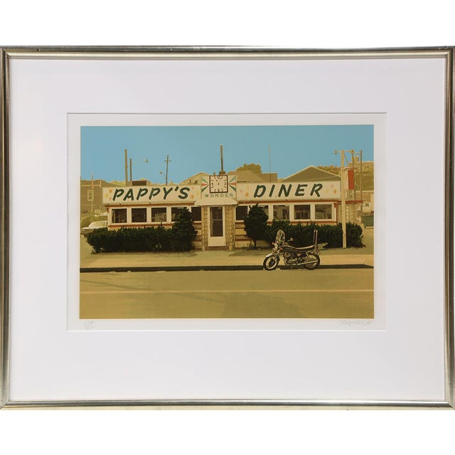 1980s John Baeder 'Pappy's Diner' Signed Limited Edition Print For Sale