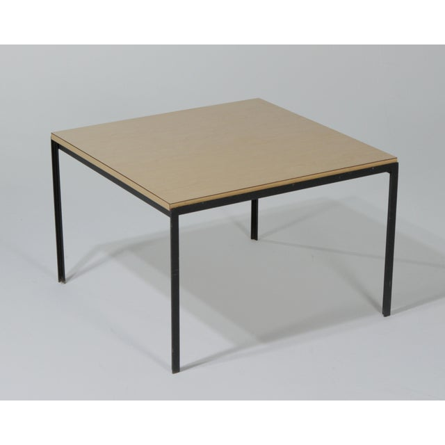 Mid-Century Modern 1950s Mid-Century Modern Florence Knoll T Angle Table With a Birch Laminate Top For Sale - Image 3 of 13