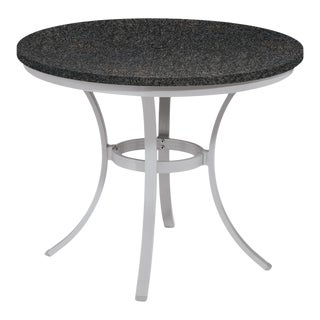 "36"" Round Café Outdoor Bistro Table, Charcoal For Sale"