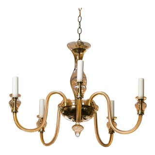 Murano Clear Glass Chandelier For Sale