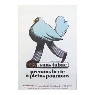 1977 Pushpin Studio Sans Tabac Poster by Milton Glaser