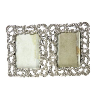 1890s Antique Sterling Silver Picture Frame For Sale