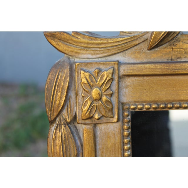 1940's Neoclassical Style Carved Walnut Wall Mirror For Sale - Image 12 of 13