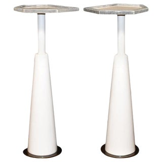 Pair of Drink Side Tables With Shagreen Trim For Sale