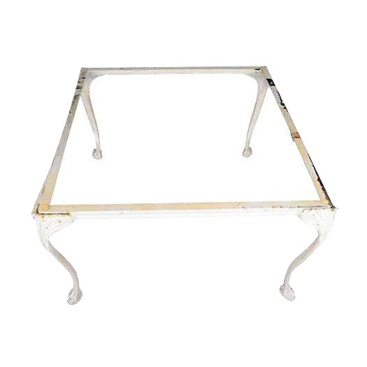 Cast Aluminum Claw Footed Coffee Table For Sale