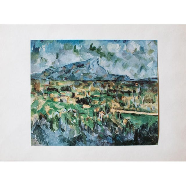 Lithograph 1950s Cezanne, Mont Sainte Victoire First Edition Lithograph For Sale - Image 7 of 7