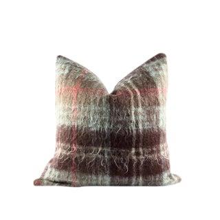 "Brown Mohair Modern Wool Pillow 22"" x 22"" For Sale"