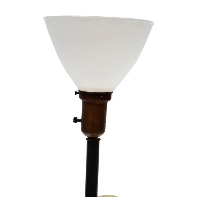 Tan Marked Design Technics Biomorphic Ceramic Table Lamp For Sale - Image 8 of 11