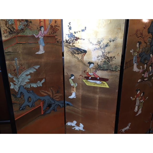 Asian Coromandel Room Divider or Screen For Sale In New York - Image 6 of 9