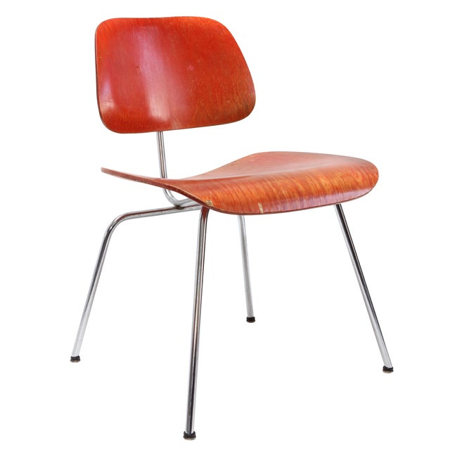 Herman Miller DCM Chair Red Aniline - Image 1 of 11