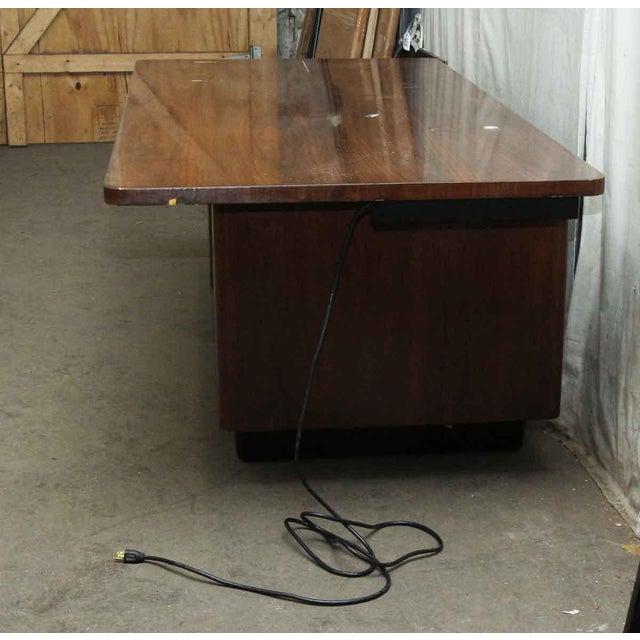 Art Deco Walnut Veneer Executive Desk For Sale - Image 6 of 7