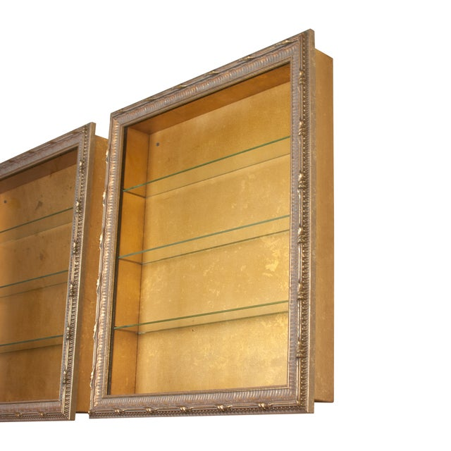 Traditional Wall-Mounted Giltwood Vitrines - Pair For Sale - Image 3 of 9