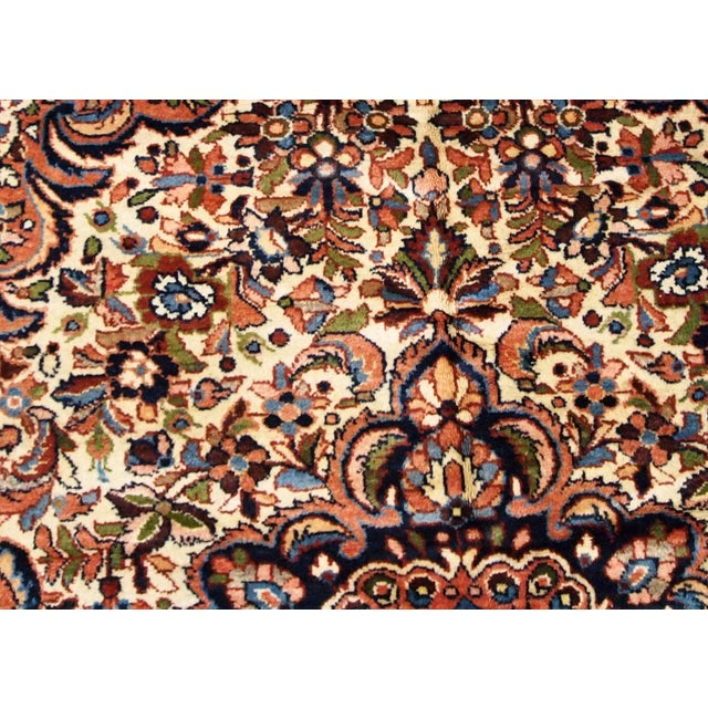 1900s, Handmade Antique Persian Sarouk Rug 3.1' X 5.2' For Sale - Image 4 of 12