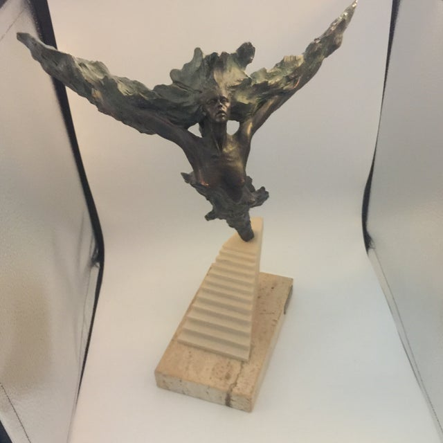 Josep Bohill Freedom Flying Lady Sculpture For Sale - Image 9 of 9