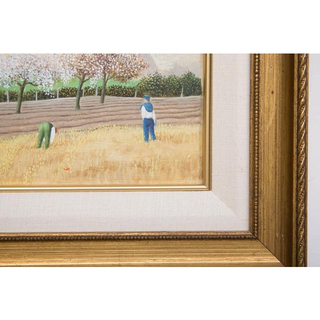 "Pierre Bazire ""Les Andelys au Printemps"" Framed Oil Painting on Board - Image 2 of 5"