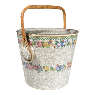 Maling Pottery Pail & Cover For Sale