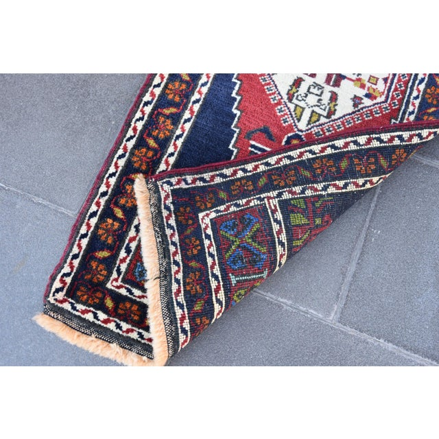 Vintage Turkish Oushak Handmade Rug - 1′7″ × 3′9″ - Image 6 of 6