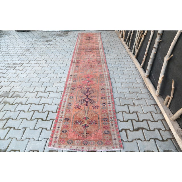 1960's Vintage Turkish Hand-Knotted Long Runner-2′9″ × 15′1″ For Sale - Image 11 of 11