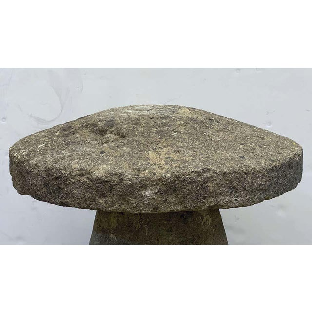 19th Century Large English Steddle or Staddle Stone for the Garden For Sale - Image 5 of 13