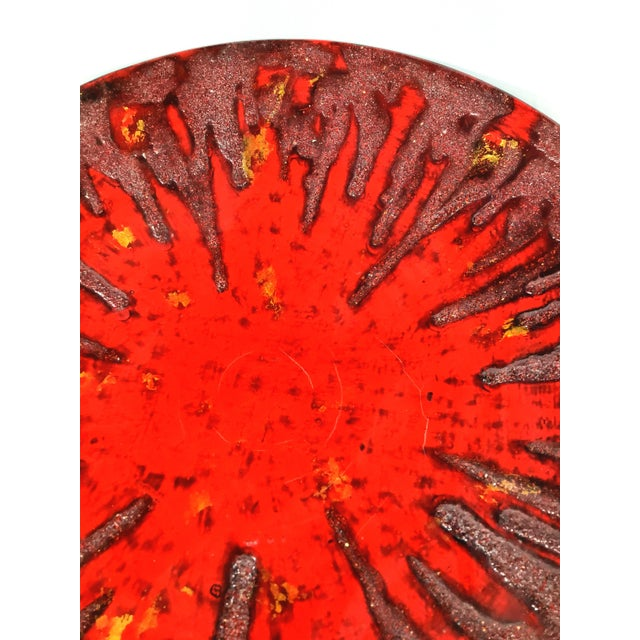 1990s 1990s Very Large Vietnamese Red Lacquer Charger For Sale - Image 5 of 10