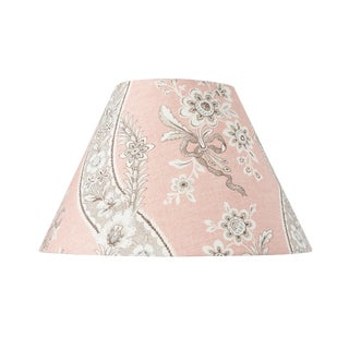 Schumacher Le Castellet Linen Lampshade in Blush For Sale