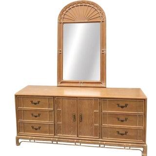 Vintage Stanley 9 Drawer Dresser/Credenza With Mirror For Sale