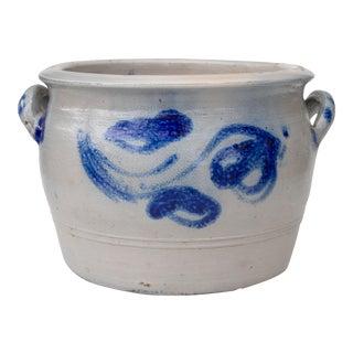 Antique German Salt Glazed Stoneware Planter For Sale