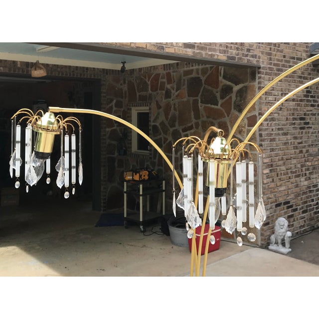 Mid 20th Century Vintage Mid Century Waterfall Floor Lamp With Marble Base For Sale - Image 5 of 13