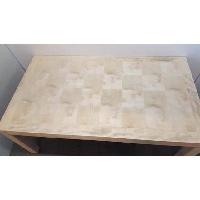 Restored Large Parson Mid-Century Dining Table For Sale In Los Angeles - Image 6 of 11
